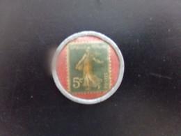 Jeton Timbre Monnaie , 5 Centimes Crédit Lyonnais 1920 - Notgeld