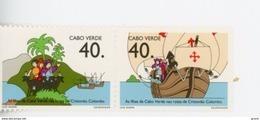 Cap Vert-Cabo Verde-1992-Caravelle, Ch Colomb-613/14***MNH - Kap Verde