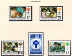 YEAR INTERN. OF CHILD - MAURITIUS - Mi. Nr. 484/488 - NH - (6532-34.) - Brunei (1984-...)