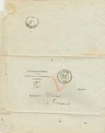 Lettre 1876.  Procureur Du Roi De Louhans  Vers  Frontenand     Cachet Cuiseaux.  Voir Scans - Marcofilie (Brieven)