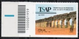 Italia 2019 - Tribunale Superiore Delle Acque Pubbliche Codice A Barre MNH ** - 6. 1946-.. República