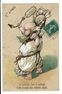 CPA-Carte Postale-FRANCE-1er Avril Le Bonheur Dans Le Ménage Est D'avoir Des Enfants Sages En 1909 VM7345 - 1° Aprile (pesce Di Aprile)