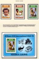 YEAR INTERN. OF CHILD - SIERRA LEONE - Mi. Nr. 578/580 + BF 1 - NH - (6532-34.) - Sierra Leone (1961-...)