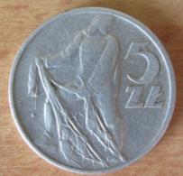 Pologne - Monnaie 5 Zloty 1958 - Millésime Peu Courant - Pologne