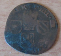 Pays-Bas Espagnols - Monnaie Liard Philippe IV 1627 (?) - [ 1] …-1795 : Période Ancienne