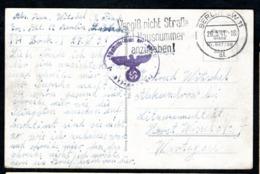 Feldpost Sur Carte Postale - Zona Belga