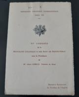 MENU STERN 1931 EXPOSITION COLONIALE INTERNATIONALE BRASSERIE PAVILLON DE L'ALGERIE 4ème CONGRES MUTUALITE COLONIALE - Menus