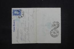 BRÉSIL - Entier Postal De Santos Pour Rio En 1886 - L 43155 - Postwaardestukken