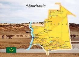 Mauritania Country Map New Postcard Mauretanien Landkarte AK - Mauritania