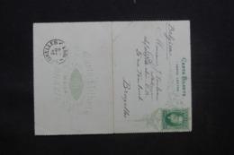 BRÉSIL - Entier Postal Pour Bruxelles En 1893 - L 43156 - Postwaardestukken