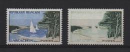 VARIETE  -  1961  -  ARCACHON  N° 1312 G **,  Couleur Outremer Absente  + 1 Normal . - Variétés Et Curiosités