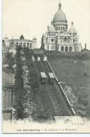 MONTMARTRE - La Basilique Et Le Funiculaire - Public Transport (surface)