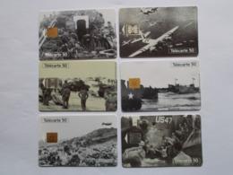Lot 6 Télécartes FRANCE Série Guerre Juin/Août 1944 (TC 143/144) - Frankrijk