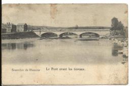 Belgique HAMOIR Souvenir De Hamoir Le Pont Avant Les Travaux ...G - Hamoir