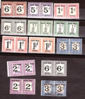 Afrique Du Sud-Ouest - SWA - 1923/24 - Timbres-Taxe En Paires - Surcharges Différentes, Bilingues - Südwestafrika (1923-1990)