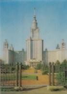AL20 Moscow University - 3D Effect Postcard - Russia