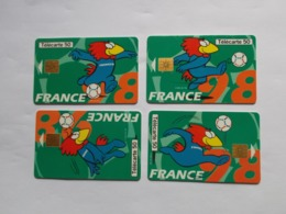 Lot 4 Télécartes FRANCE Série FOOTIX (TC 149/150) - 1998