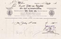 FACTURA, RECHNUNG, QUITTUNG  --  KLAGENFURT  --  BUCHDRUCKEREI  JOH. LEON Sen. --  1904 - Österreich