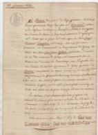 Grans Bouches Du Rhône Cordonnier 1842 - Manoscritti