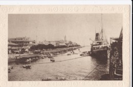 AN47 Port Said, The Quay - Savoy Hotel, Steam Ship - Port Said