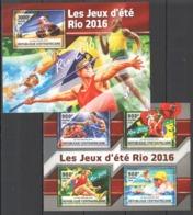 CA031 2016 CENTRAL AFRICA CENTRAFRICAINE SPORT OLYMPIC GAMES RIO 2016 KB+BL MNH - Summer 2016: Rio De Janeiro