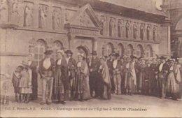 Mariage Sortant De L'église - Sizun