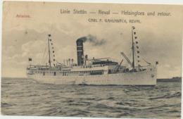 75-969 Estonia Poland Finland Reval Tallinn Helsinki Stetti Line Ship Ariadne - Sin Clasificación