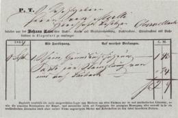 FACTURA, RECHNUNG, QUITTUNG  --  OBERVELLACH  --  BUCHDRUCKEREI  JOHANN LEON  --  1844 - Österreich