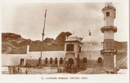 AO30 El Aldroos Mosque, Crater, Aden - RPPC - Yemen