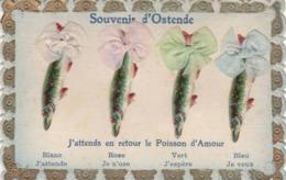 41728  -  Ostende  J'attends En Retour  Le Poisson D'amour - Oostende