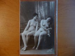 CPA - Deux Femmes Nues Assises Sur Un Banc / Nude Ladies - érotique - La Grisette 469 - Nus Adultes (< 1960)