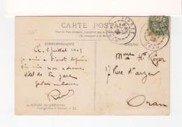 Sur CPA Scènes Algériennes Pour Oran CAD Tiaret Oran 1903 Sur Type Blanc Sur Recto Et Verso. (3285) - Algeria (1924-1962)