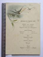 Menu - Déjeuner Du 18 Juillet 1887 - Madame Chêne - Menú