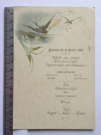 Menu - Déjeuner Du 18 Juillet 1887 - Madame Chêne - Menükarten