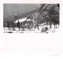 Wangenbourg Engenthal En Février 1946 - L'Eglise Sous La Neige - Pris Par Un élève De L'Ecole De Cadres De Rouffach - Guerre, Militaire