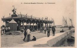 [14] Calvados > Port-en-Bessin-Huppain  LA POISSONNERIE (Animée) .NON  Circulée-- - Port-en-Bessin-Huppain