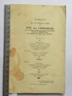 (37) Menu - Cussay - Le 14 Février 1957, Fête Des Laboureurs, Présidence D'honneur Mme Louault, Traiteur Rabaté, Betz Le - Menus