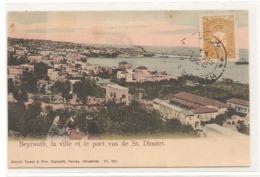 Liban - Beyrouth - La Ville Et Le Port Vu De Saint Dimitri - CPA° - Liban