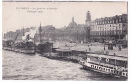 Rouen  Cpa  Le Quai De La Bourse - Rouen