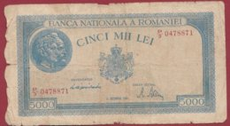 Roumanie 5000 Lei Du 15/12/1944 Dans L 'état  Lot N °184 - Hungría