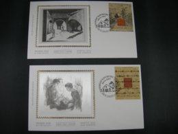 BELG.1997 2682 & 2683 FDC's Soie/zijde : Promotie Van De Filatelie - Museums - - FDC