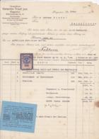 FACTURA, RECHNUNG   --  KLAGENFURT   --   VALENTIN TROST Jun.   --  1921  --  MIT 50 HELLER TAX STAMP  --  STEMPELMARKE - Österreich