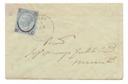 DA VISSO MARCHE A MACERATA - 14.1.1866 - FIRMATO E.DIENA. - 1861-78 Vittorio Emanuele II