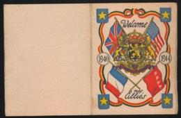 KLEINE KALENDER  - WELCOME A NOS ALLIES - 1940  1944  9 X 7 CM  2 SCANS - Guerre 1939-45