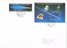 34118. Carta F.D.C. GUINÉ BISSAU  1986. Cometa HALLEY, Space, Astronomy - Guinée-Bissau