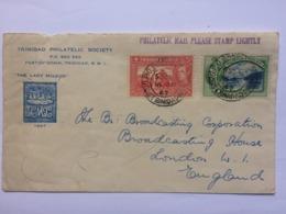 TRINIDAD & TOBAGO 1947 Illustrated Cover Port Of Spain To London - Trinité & Tobago (1962-...)