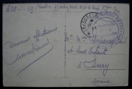 1923 Gare De Landau Service Des Chemins De Fer Des Pays Rhénans, Cachet Du Commissaire Militaire Carte De Hambach - Marcofilie (Brieven)