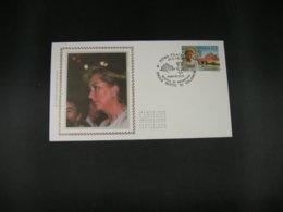 "BELG.1997 2706(Italian Serie) FDC Soie/zijde ( Roma)  : "" Paola , Reine Des Belges/Koningin Der Belgen "" - FDC"