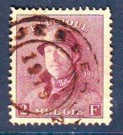 Belgique N° 176 Obl TTB , Cote COB 410 Euros , Roi Casque , RARE !!!!! - Gebraucht