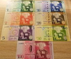 Tonga Billetes 7 Pzas Juego Un ND 2008 - Tonga